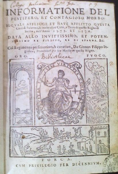 [1576] Informatione del pestifero, et contagioso morbo
