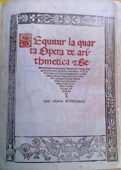 [1522] Sequitur la quarta opera de arithmetica