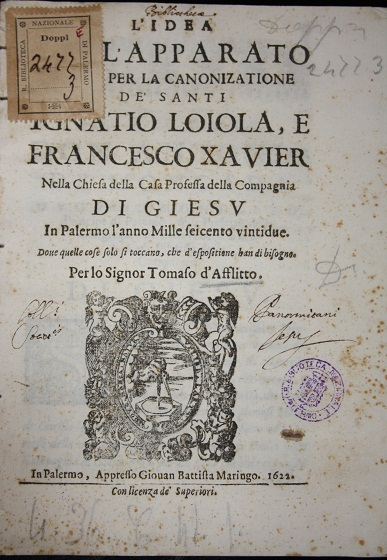 [1622] L'idea dell'apparato per la canonizatione di Ignatio Loiola e Francesco Xavier