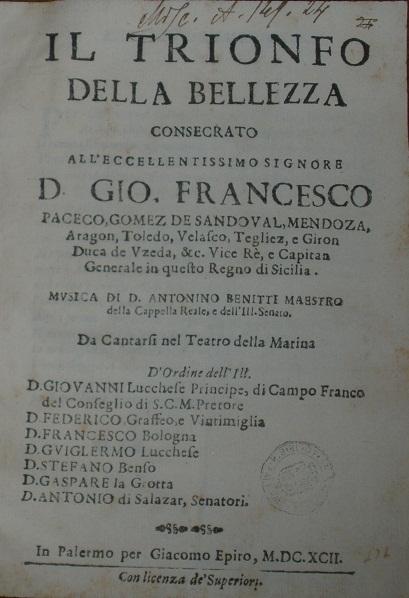 [1692] Il trionfo della bellezza
