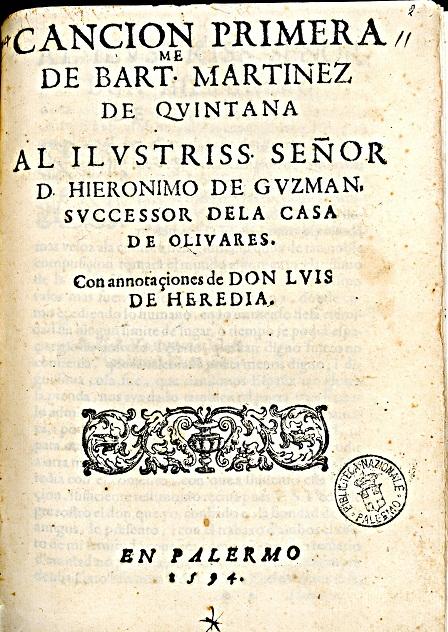 [1594] Cancion primera