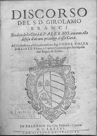 [1586] Discorso del S. D. Girolamo Branci