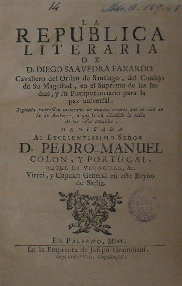 [1700] La republica literaria de d. Diego Saauedra Faxardo