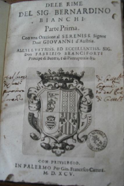 [1595] Dele rime del sig. Bernardino Bianchi