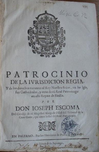 [1686] Patrocinio de la iurisdicion regia