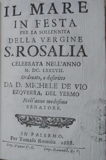 [1688] Il mare in festa per la sollennita della vergine S. Rosalia